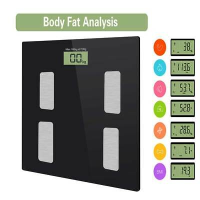 Bluetooth Body Fat Monitor Body Analyser Scale Electronic Fitness BMI 400lb