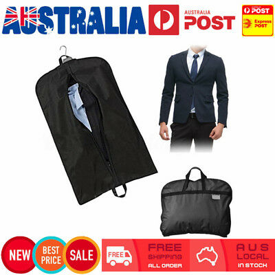 2X Suit Dress Coat Garment Storage Travel Carrier Bag Cover Hanger Protect 60cm