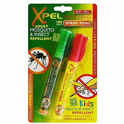 Xpel Adult & Kids Mosquito & Insect Repellent Spray Pens Repel - DEET Free