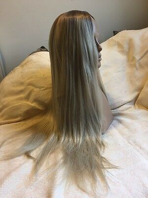 Blonde Synthetic Lace Front Wig Ombré Natural Look Long New