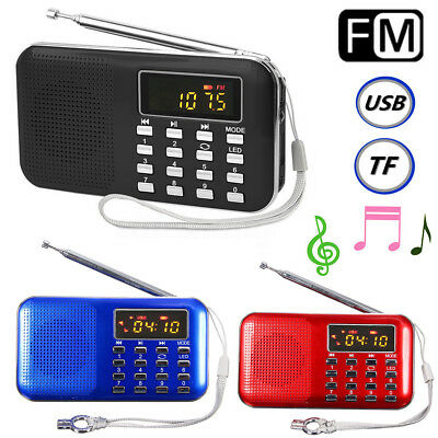 LCD Radio FM Portatile Digitale Lettore USB Micro SD TF Card Mp3 Music Player