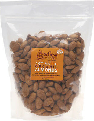 Activated Organic Almonds Celtic or Croatian Salt,Water 600g by 2DIE4 Live Foods