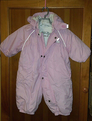 Reima Baby Pink Fleece Lined Winter Snowsuit All in One Size 0-3 month 62 cm