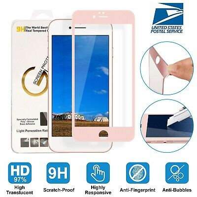 3D Curved Full Cover Tempered Glass Screen Protector for Apple iPhone 7 6 Plus