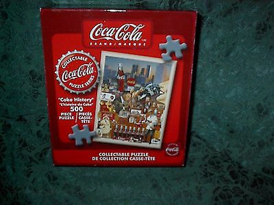 Coca Cola Collectable Puzzle Series-Coke History-500 Piece-New