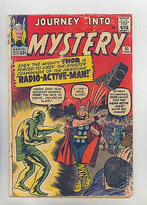 Journey Into Mystery #93 VG- Kirby, Ayers, Ditko, Thor, 1st Radio-Active-Man