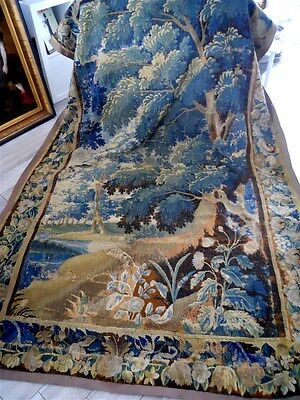 Other Aubusson French antique tapestry 17th-century verdure