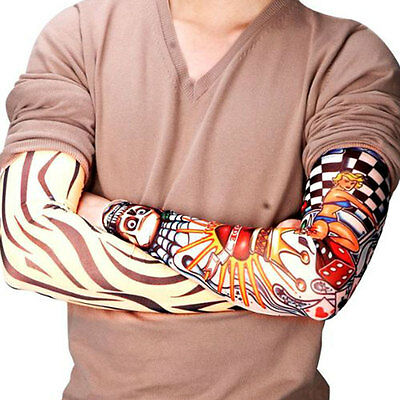6 x Manches Manchettes de Faux Tatouages Différents Manche Tattoo Sleeves Neuf
