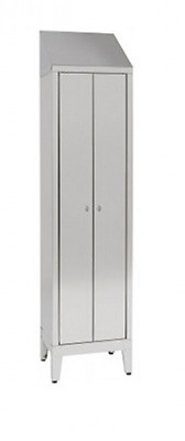 Wardrobe Locker Stainless Steel AISI 430 At 1 Place 2 doors Cm. 50X50X215H