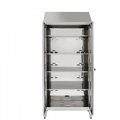 Wardrobe with shelf Stainless Steel AISI 430 A 2 doors Cm. 95X40X215H