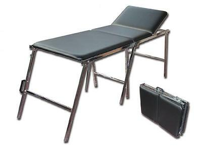 Folding Bed Shaped Suitcase With Chromed Steel Frame Cm. 185X64X70H