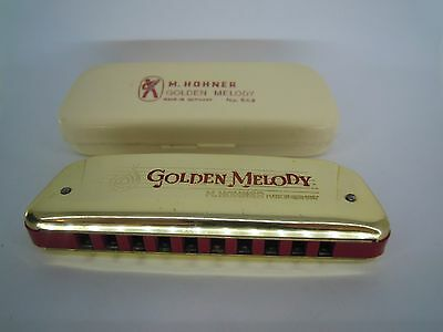 Armonica A Bocca Hohner Golden Melody Made In Germany N° 543 Key C (Vv)