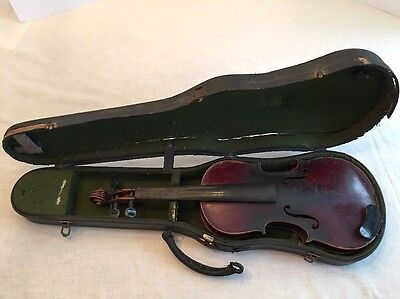 Old ANTIQUE Copy Antonius Stradivarius Violin Germany with fitted Case 22 Inch