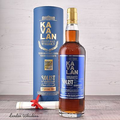 Kavalan Solist Vinho Barrique Cask Strength Taiwanese Whisky Worlds Best Whisky!