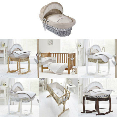 Clair de Lune Bedtime Story Moses Basket/Bedding Set, Neutral