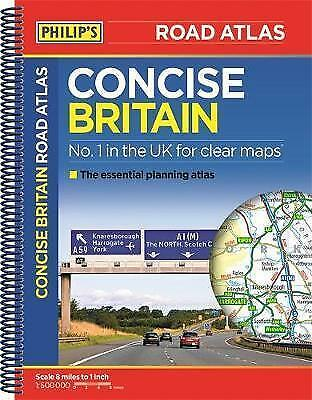 Philip's Concise Atlas Britain: Spiral A5 (Road Atlas),New Condition
