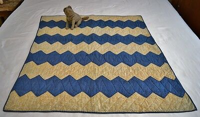 Antique 19th Century Ca 1860s Calico Crib Quilt