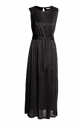 H&M MAMA Nursing Dress Black Glittery S M L 8 10 12 14 16 BNWT Breastfeeding