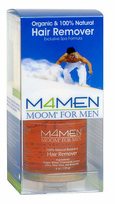 Mens Moom for Men Organic Wax Waxing Kit Chest Back Hair Removal Remover Strips