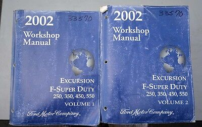 Ford 2002 F-Series Excursion Workshop Manuals (Inv.33570)