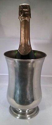 Vintage silver plated wine/ champagne  bottle coaster ice bucket