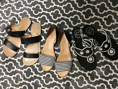 Lot of 3 J. Crew & Jack Rogers Shoes - Size 6/7