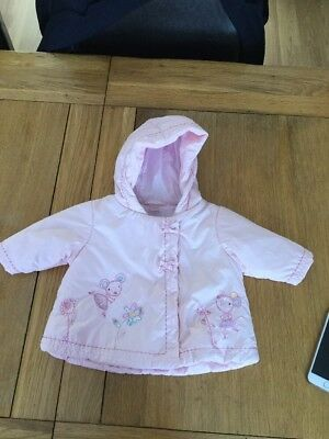 Next Baby Girls Padded Coat Up to Size 3 Months