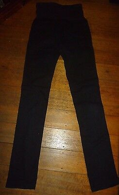 """Jeans West"" Black Stretch Denim Skinny Maternity Jeans Size 8,"