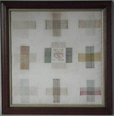 Antique Darning Sampler, dated 1811