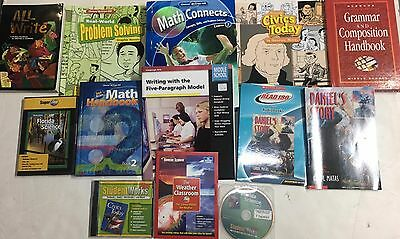 Grade 7 Curriculum Lot of 15 Educational Items 7th Homeschool Multiple Subjects