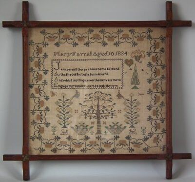 Antique Sampler, 1834, by Mary Farrall