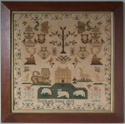 Antique Sampler, 1810, by Elizabeth Sand