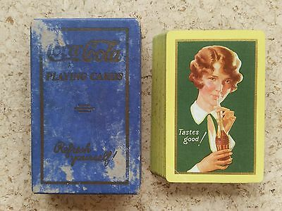 1928 Coca-Cola Advertising Playing Cards - Bobbed Hair Girl - Tastes Good! 52+J