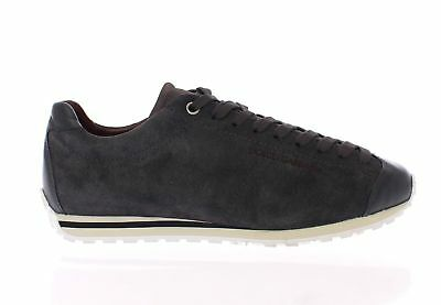 Dolce & Gabbana Brown Leather Sport Casual Sneakers Shoes Scarpe Uomo Tg. 39.5