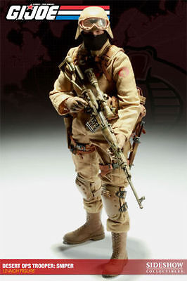 "Sideshow 1/6 Scale 12"" GI Joe Cobra Sniper The Enemy Action Figure NEW"
