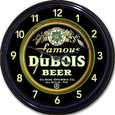 DuBois Brewing Co Beer Tray Wall Clock DuBois PA Ale Lager Pilsner Brew New 10""