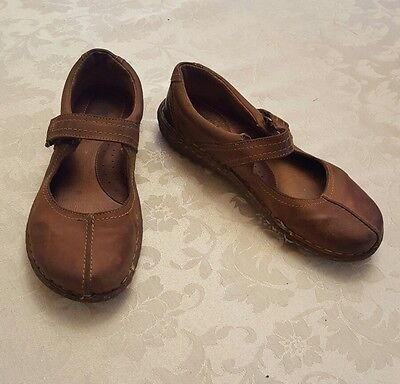 BORN Women's Size 10 Brown Leather Mary Jane Shoes