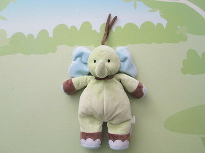 Carters MUSICAL Baby Crib TOY Elephant Green & Blue
