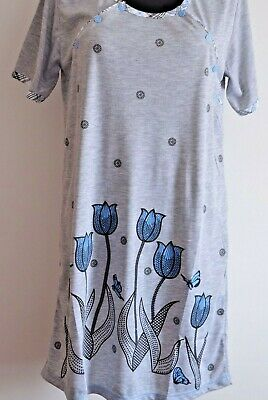 Woman maternity nightdress nightwear with two sides buttons and short sleeve M96