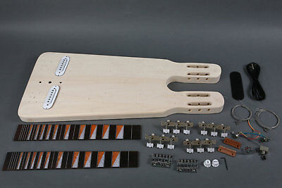 New High Quality Diy Double Neck Do It  Yourself Lap Steel Electric Guitar Kit