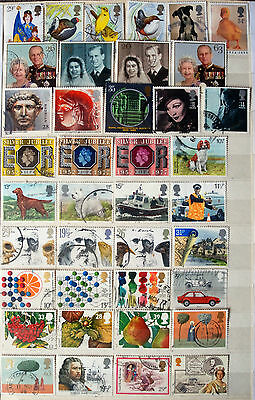 Collection Of Different Used Older GB Commemoratives All High Values.