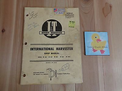 International Harvester SHOP MANUAL Series 460 560 606 660 2606 Tractor 1964