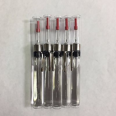 5 Pcs Refillable Precision Needle Point Oiler  W/oil Ew2132 Fishing Sewing Tools