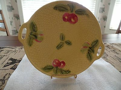 Vintage German Majolica Serving Platter 10""
