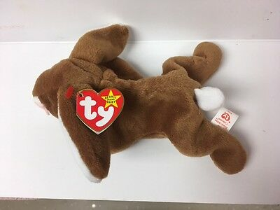 Ty Beanie babies 1995 ears bunny  pvc Tag ERRORS Plush reTired NWT