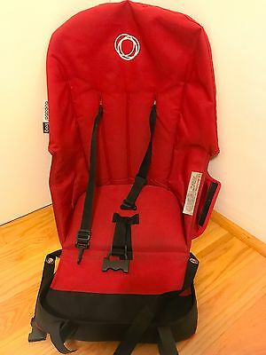 Bugaboo Frog Stroller Canvas Seat Fabric Base Red Toddler Baby