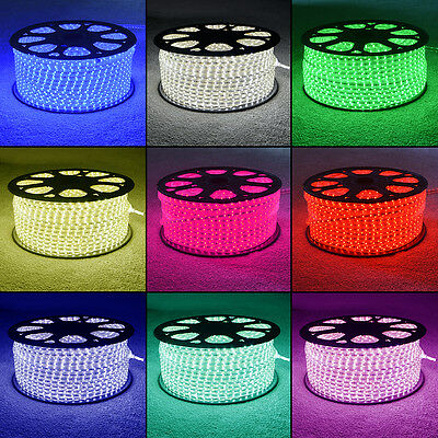 RGB Colour Changing LED Strip 220V 240V IP68 Waterproof Commercial Rope Lights