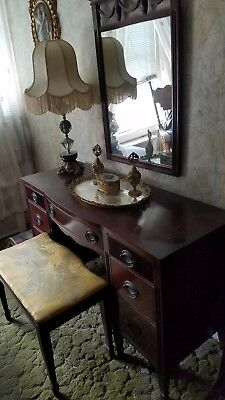 Antique Bedroom Set-1940's All Wood