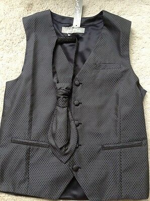 Waistcoat and Tie Grey Next Age 12 Brand New with Tag Child Boys