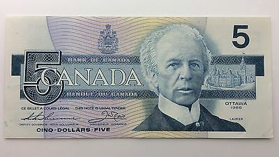 1986 Canada Five 5 Dollars FOF Series New Bill Note Uncirculated Banknote B027